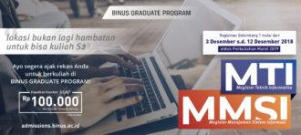 Selamat Wisudawan BINUS 58 – Dean's List Program