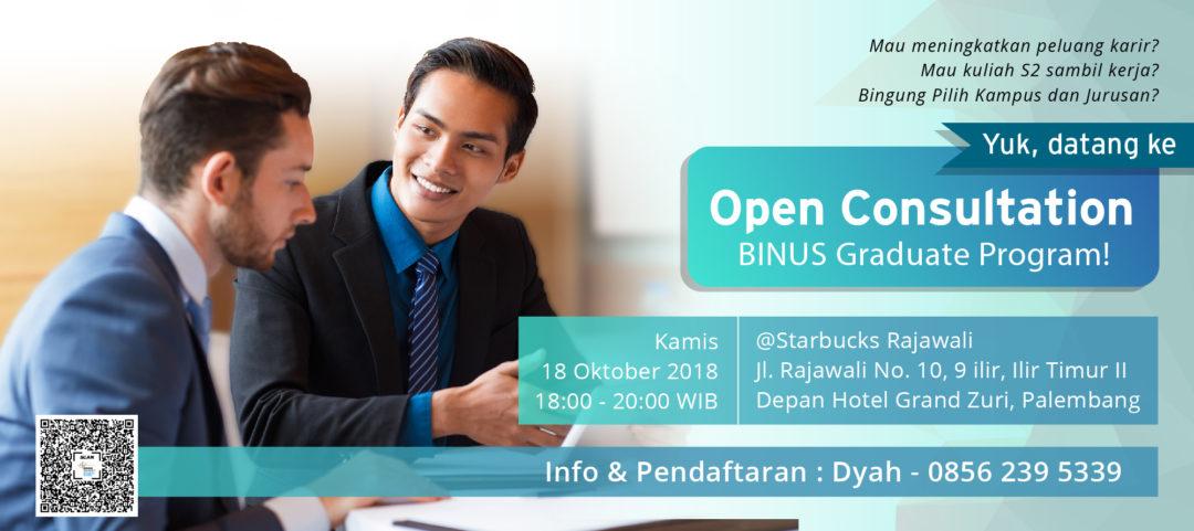 Open Consultation Palembang – 18 Oktober 2018